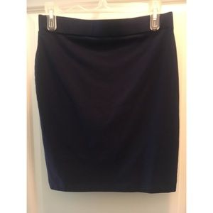 Navy blue stretchy skirt